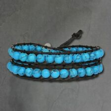 Türkis Beauty-Modeschmuck-Armbänder aus Leder