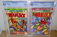 Marvel Premiere #2 Power of Warlock & Warlock #9 CBCS 6.5 & 8.0 Marvel 1972 & 75