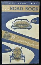 1957-58 ONTARIO MOTOR LEAGUE ROAD BOOK 50th Anniversary Issue - Simpsons/Eatons