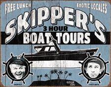 Gilligan's Island Skipper's Boat Tours TIN SIGN Vintage Poster Marina Decor