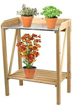 Wooden Potting Table Garden Bench Greenhouse Staging Shelf Decking Work Station