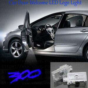 2x Blue Logo Car LED Door Ghost Laser Projector Light For Chrysler 300 2005-2019