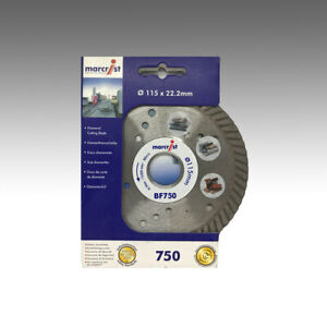 PREMIUM Marcrist BF750 Ø 115mm x 22,23mm Diamant-Trennscheibe Granit Naturstein