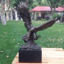 Art Deco Sculpture Flying Eagle Falcon Hawk Bronze Statue