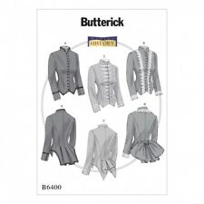 Butterick Ladies Sewing Pattern 6400 Vintage Style Boned, Back Pleat Jackets ...