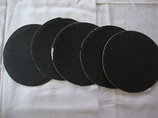 """5"""" Inch 5 Sandpaper Disks P120 Grit Peel and Stick Adhesive Abrasive Sand Paper"""