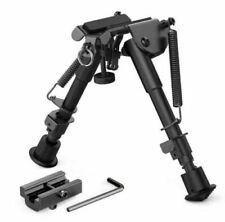 "Heavy Duty 6""to 9"" Adjustable Bipod for Rifle Picatinny Rail Mount + Adapter"