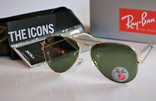 Ray-Ban 3025 Aviator Sunglasses Polished Gold/Green Polarized  58mm - Open Box