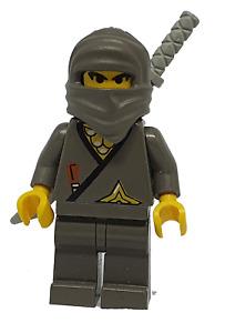 Lego Ninja grau 973pn6 Figur Minifigur für 6093 6033 3019 4805