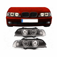 Xenon Scheinwerfer Set für BMW  E39 00-03 klar/schwarz Angel Eyes Facelift NWP