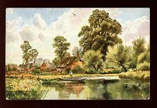 Hampshire Fordingbridge River artist A W Bridgeman Tuck Oilette #7113 PPC 1906