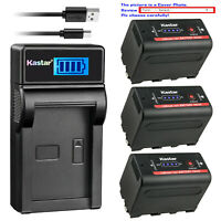 Kastar NP-F780 Battery LCD Charger for Sony NP-F770 & CCD-RV200 CCD-SC8 CCD-SC9
