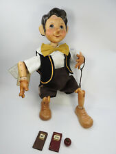"The Xenis Collection Musical Wooden Dolls, Pinocchio ""Off to School"" #48 of 75"
