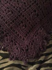 Crochet Sweet Dreams Baby Blanket Afghan Dark Purple Help a Puppy!!!