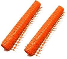 2x Bauzaun 50 x 1 m Warnnetz Orange, Auffangnetz Schutzzaun Warnzaun Absperrzaun