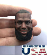 "1/6 LeBron James Rooted Mustache Head For 12"" Enterbay Hot Toys PHICEN Figure"