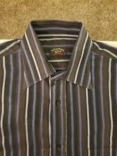 Men's Paul & Shark Long Sleeve Button Front Shirt Size M Striped