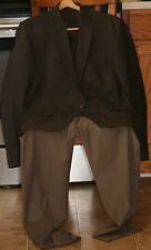 CALVIN KLEIN Brown/Taupe TWO BUTTON MEN jacket (100% Wool) & slacks ensemble 44L