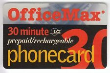 AMERIQUE  TELECARTE / PHONECARD .. USA 30MN LCI OFFICE MAX 1998 +N°/ MAGNETIQUE
