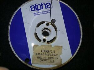 Alpha 1855/19  22AWG 19 strand Grey 105°C@600V  MIL-W-16878D 1000ft. Spool