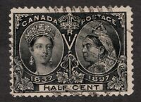 Sc50 - Canada - ½ Cent - 1897 Diamond Jubilee - Used - superfleas - cv $120