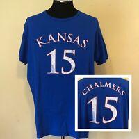 Mario Chalmers Kansas Jawhawks Distressed Jersey T-Shirt Size XXL Retro Brand KU