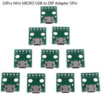 10Pcs MICRO USB to DIP Adapter 5Pin Female Connector PCB Converter Board_je