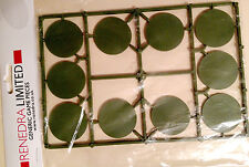 Renedra 40mm Round Wargaming Bases - Green- for Ww2 Dark Age &Historical Games