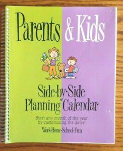 Parents & Kids Side by Side Planning Calendar