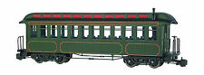 Bachmann 89399 Undec Green/Gold Coach W/Full Interior, Lighted, Metal Wheels