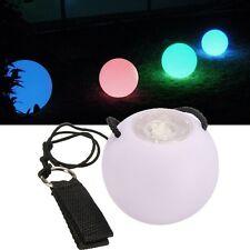 Multi-Colored LED light Selection Glow POI Thrown Balls Lanyard handball