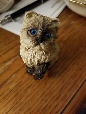 Vintage Stone Critters Himalayan Cat Figurine Blue Eyes