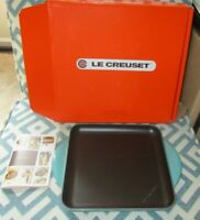 """NEW LE CREUSET 24 9.5"""" SKINNY GRILL SQUARE CAST IRON & ENAMEL TURQUOISE"""