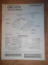 Kenwood Service Manual~DMC-G7R MD Minidisc Recorder/Player~Original