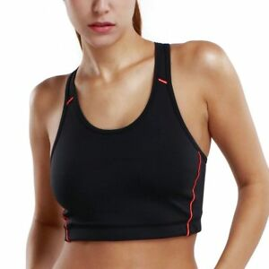 Women's Wirefree Racerback Basic Sports Bra Top Mid Impact Smooth Fitness Clothe