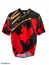 Louis Garneau Red Men's M Cycling Bike Jersey Shirt - Canada Maple Leaf