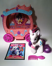 My Little Pony G4 Rarity's Gem Carriage, Accessories & Custom Brushable Card LOT