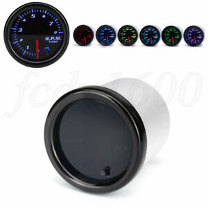 "Universal 2"" Inch Digital Pointer Car Tachometer 0-8000 RPM Gauge 7 Color LED 1x"