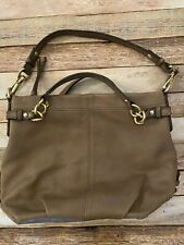 Coach Brooke Pebbled Taupe Hobo Handbag 14142