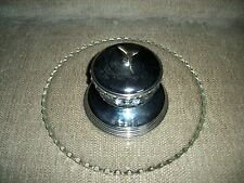 Glass Relish Dish w/ Silver Plated Plate and Glass Dip Dish