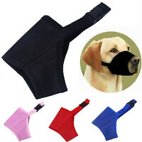 Dog Muzzle Safety Adjustable Biting Barking Chewing Small Medium Large XL Muzzle