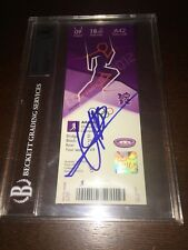 Usain Bolt Signed Official Authentic London Olympic Ticket Beckett Slab Jamaica