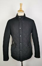 MENS BARBOUR POWELL BLACK QUILTED FLEECE LINED JACKET - LARGE