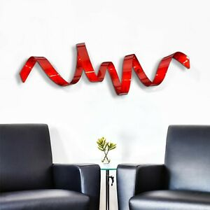 Metal Wall Art ULTRA MODERN Red Wall Sculpture Decor ORIGINAL SIGNED Jon Allen