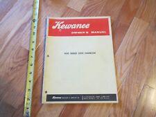 Kewanee owners manual model 900 series disk harrow