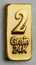 2GN(NOT GRAM) 24K PURE GOLD .999 FINE BENCHMARK STRATEGIC METALS& CERT D10a