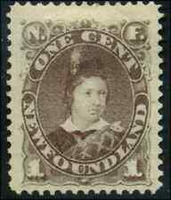 Newfoundland #42 mint NG HR 1880 Edward, Prince of Wales 1c grey brown CV$65.00