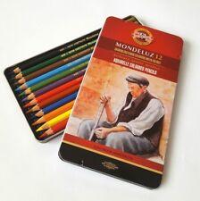 KOH-I-NOOR Mondeluz Aquarelle Coloured Pencils ** Presentation tin Set of 12 **