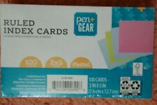 Pen Gear Ruled Index Cards Pastel Colors 100 Count 3 X 5 New