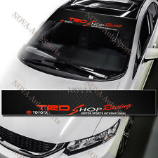 TRD Racing Car Windshield Carbon Fiber Vinyl Banner Decal Sticker For TOYOTA 53""
